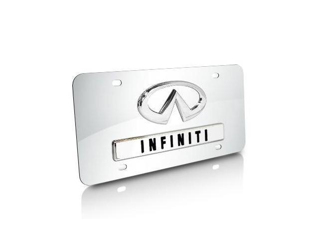 Infiniti Logo and Name on Chrome Steel License Plate
