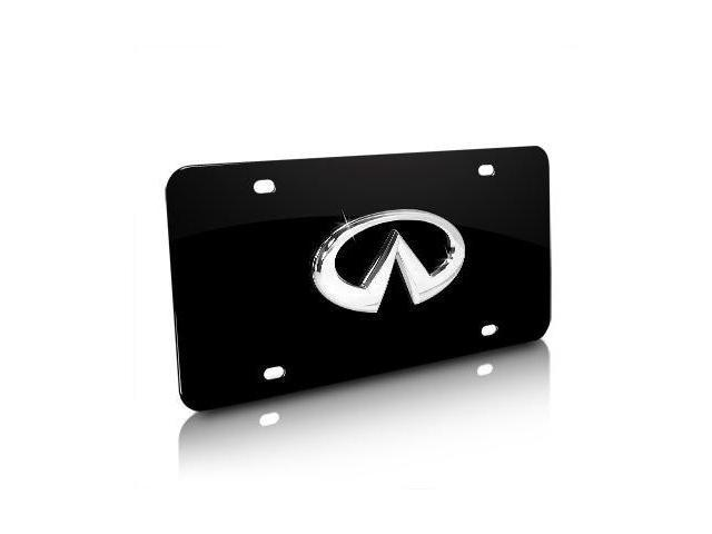 Infiniti 3D Logo on Black Metal License Plate