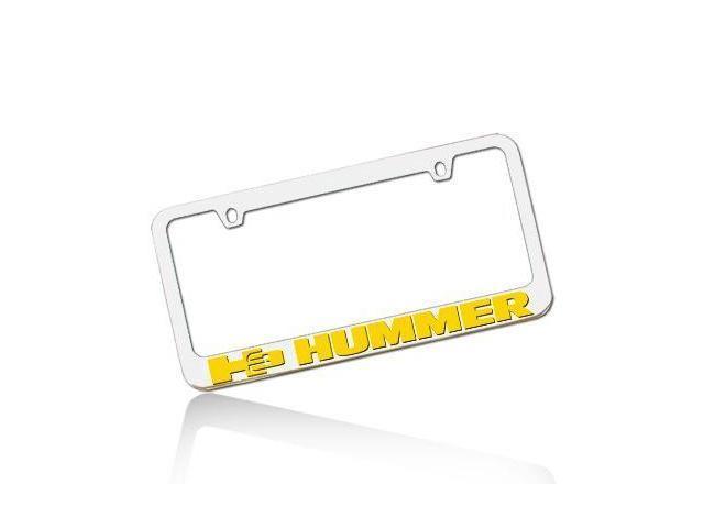 Hummer H3 Yellow License Frame