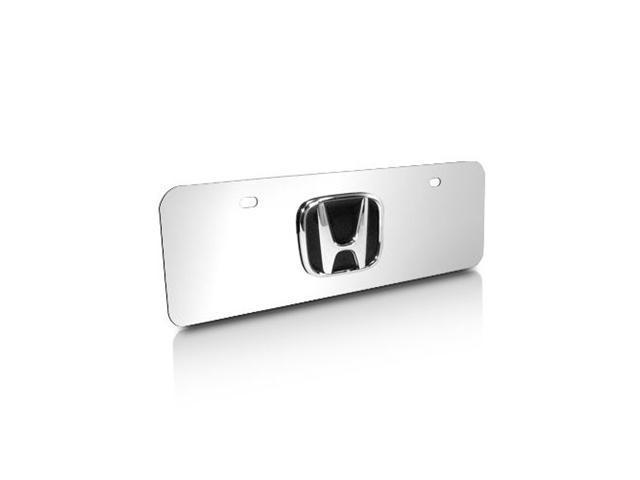 Honda 3D Logo Half-size Chrome License Plate