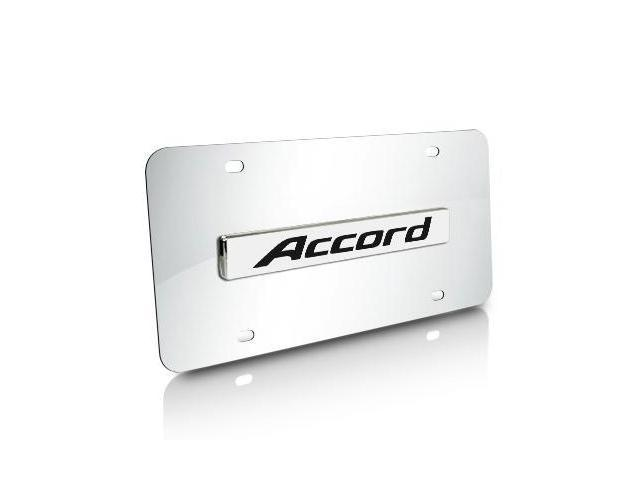 Honda Accord Name Chrome Steel License Plate