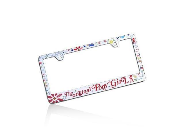 Ford Mustang The Original Pony Girl License Plate Frame
