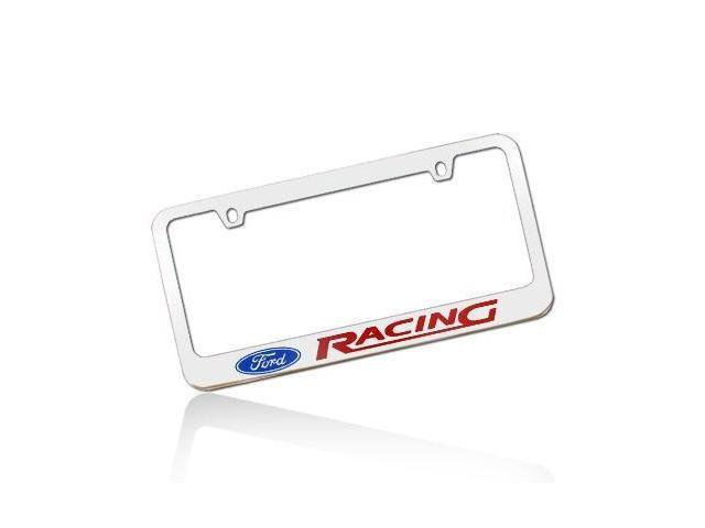 Ford Racing Chrome Metal License Frame
