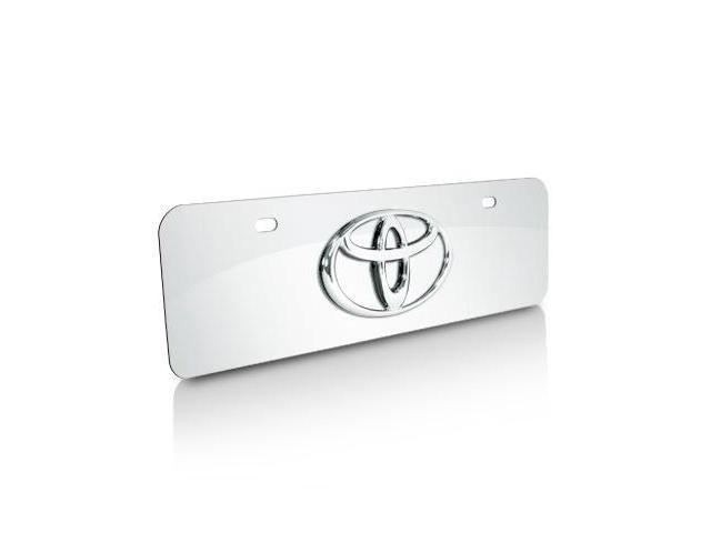 Toyota Logo Half-size Chrome Steel License Plate