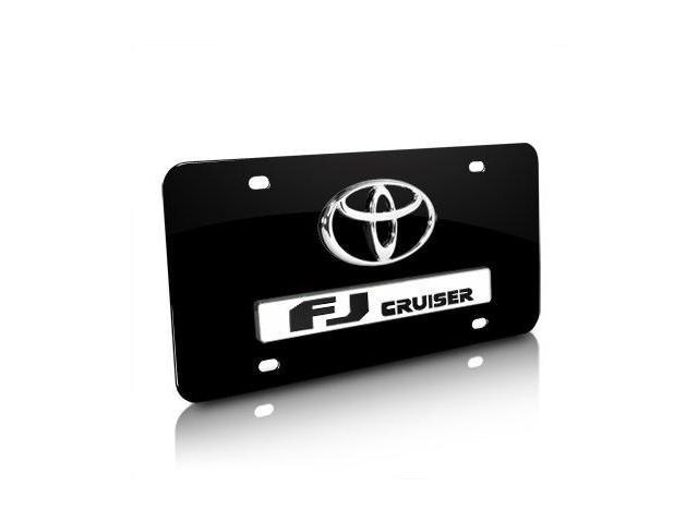Toyota Logo FJ Cruiser Black Metal License Plate