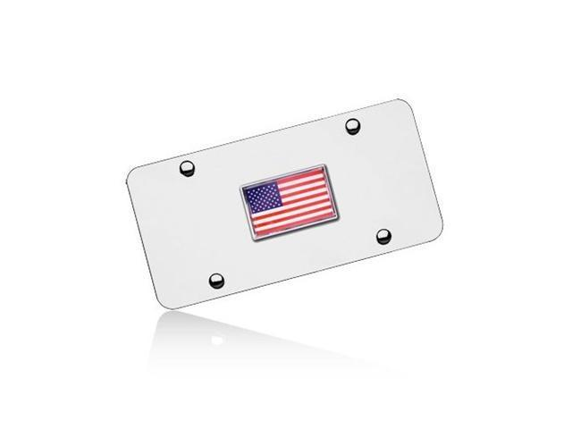 US Flag Chrome License Plate