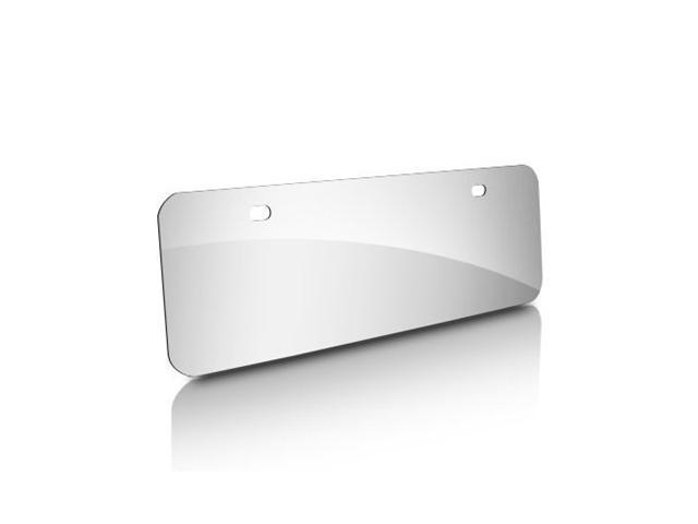 Blank Half-size Stainless Steel Chrome License Plate