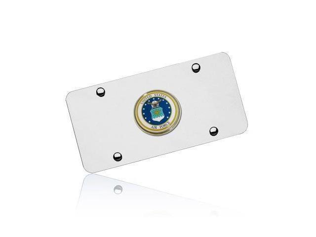 US Air Force Emblem on Chrome License Plate