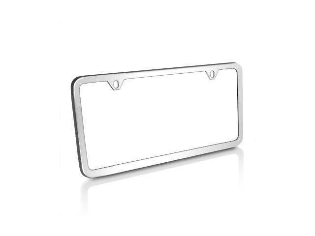 Slim Polished Stainless Steel License Plate Frame