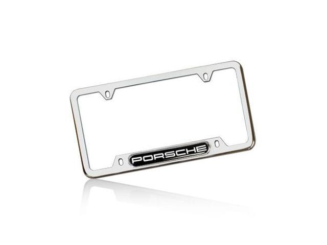 Porsche Polished Steel License Frame