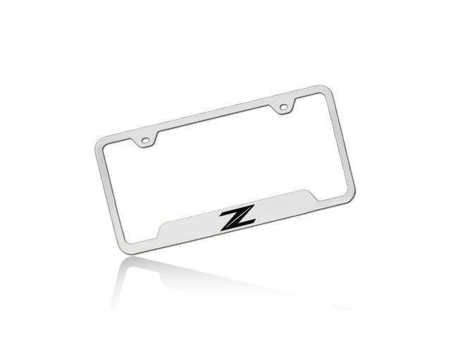 Nissan 370Z Z Logo Polished Steel License Plate Frame