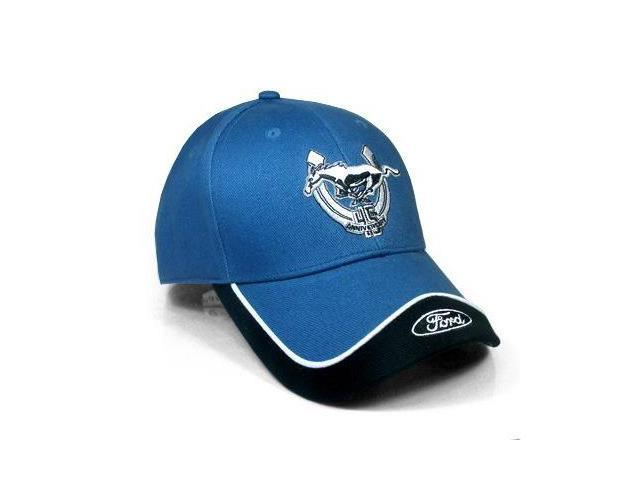 Ford Mustang 45th Anniversary Logo Blue & Black Hat