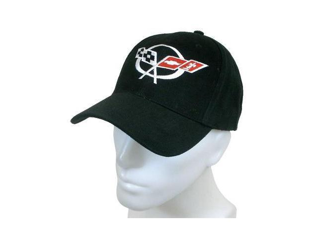 Corvette C5 Logo Black Baseball Cap