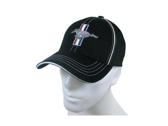 Ford Mustang Black Flex Fit Baseball Cap