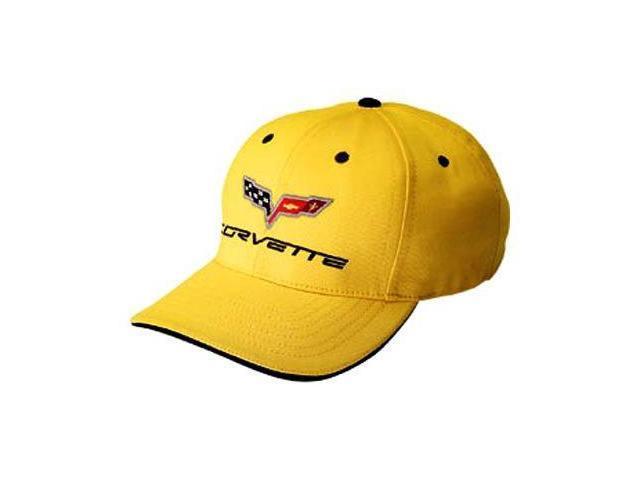 Corvette C6 Yellow Baseball Cap