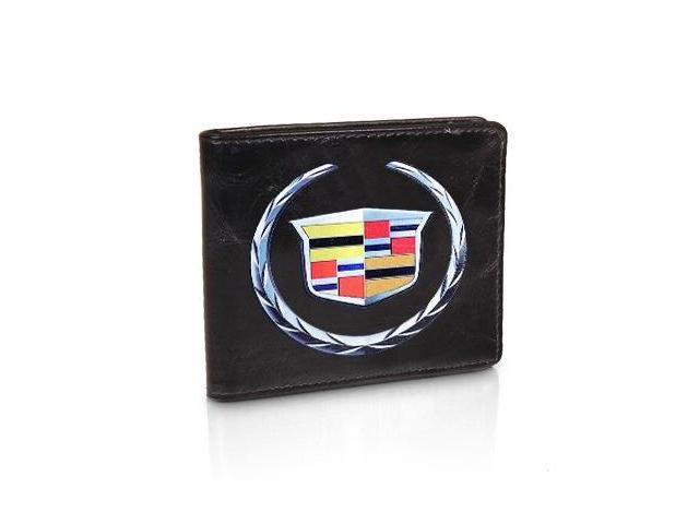Cadillac Logo Black Leather Wallet