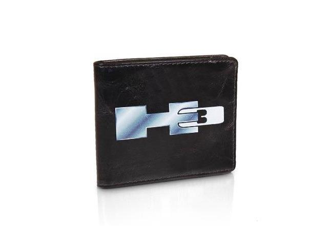 hummer h3 logo black leather wallet neweggcom