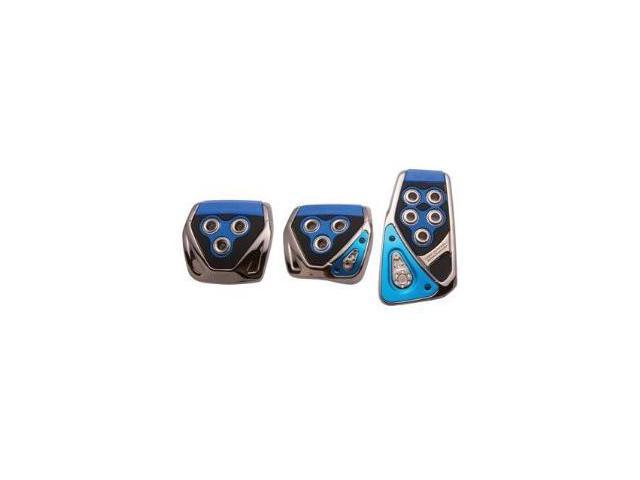 RAZO RP104BL Blue Manual Car Pedal Covers