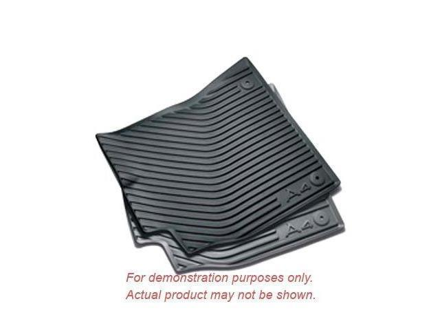 Audi 2009 up A4 Front All Weather Rubber Floor Mats, Black