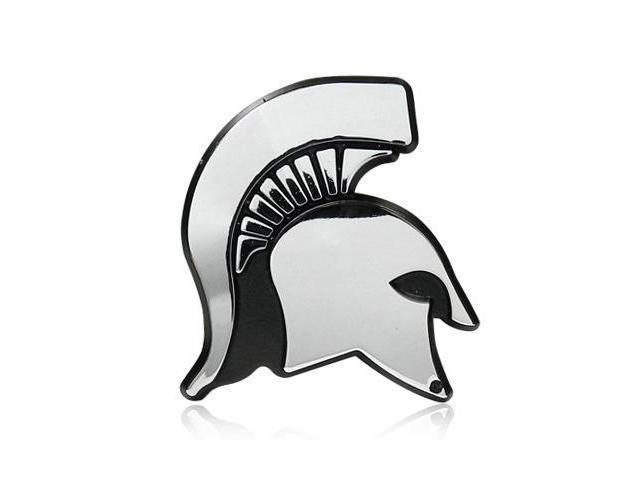 Michigan State University Spartan Head Chrome Auto Emblem