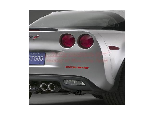 Corvette C6 Rear Bumper Letters Insert Red