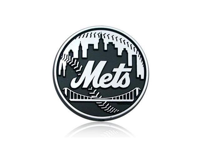 MLB New York Mets Chrome Car Emblem
