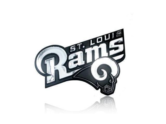 NFL St. Louis Rams 3D Chrome Car Emblem