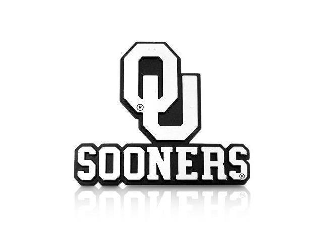 University of Oklahoma Sooners Chrome ABS 2D Auto Emblem