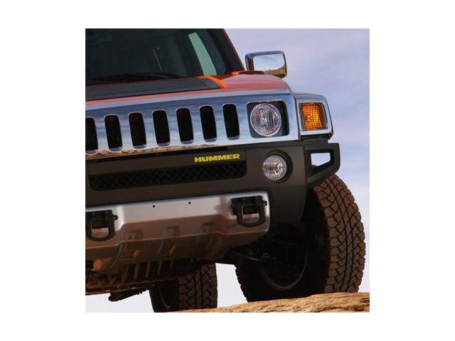 Hummer H3 Front Bumper Letters Inserts Yellow
