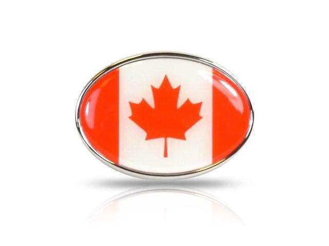 Canada Flag Oval Metal Car Emblem