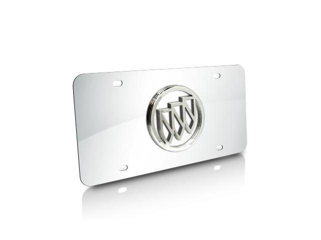 Buick Chrome Logo Chrome Stainless Steel Auto License Plate