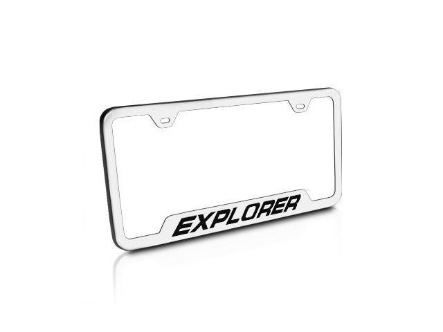 Ford Explorer Brushed Stainless Steel License Plate Frame