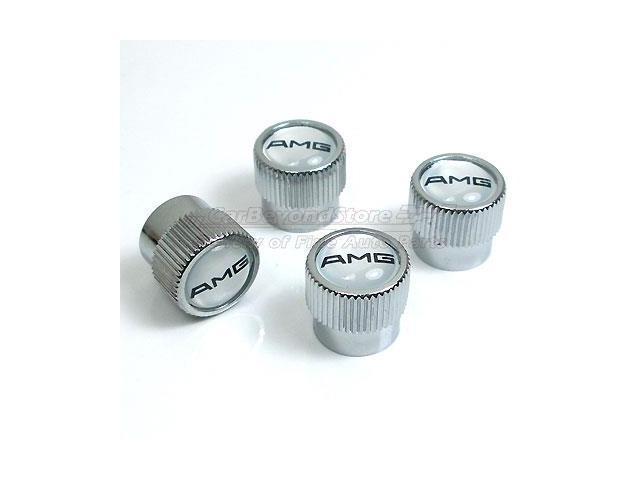 Mercedes benz amg logo chrome tire stem valve caps for Mercedes benz valve stem caps