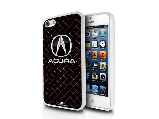 Acura Logo on Diamond Tile Look iPhone 5 Clear TPU Cell Phone Case