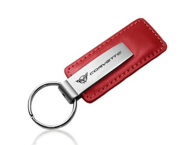 Chevrolet Corvette C5 Red Leather Key Chain