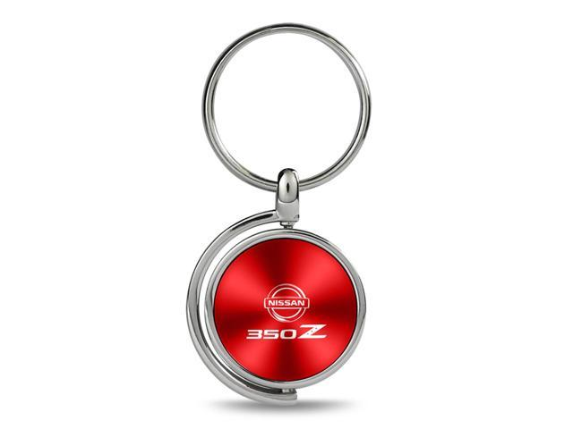 Nissan 350Z Red Brushed Metal Spinner Key Chain