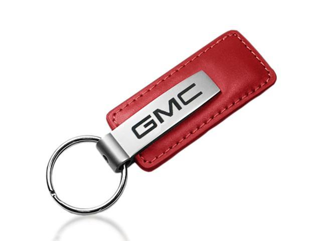 GMC Red Leather Car Key Chain