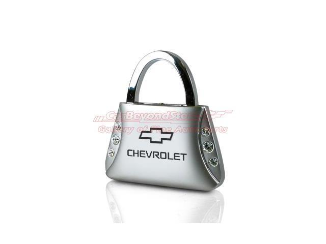 Chevrolet Clear Crystals Purse Shape Key Chain