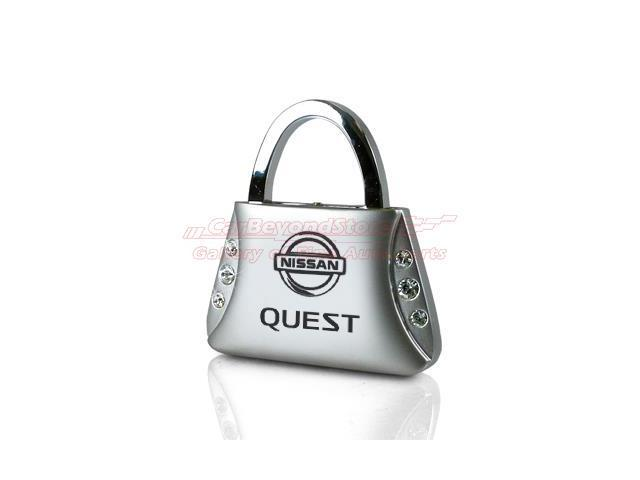 Nissan Quest Clear Crystals Purse Shape Key Chain