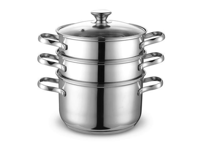 Cook N Home 4pcs Stainless Steel Steamer Set