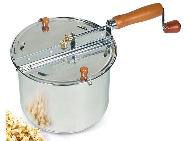 Popcorn Popper stovetop 6.5-QT Stainless Steel Cook N Home
