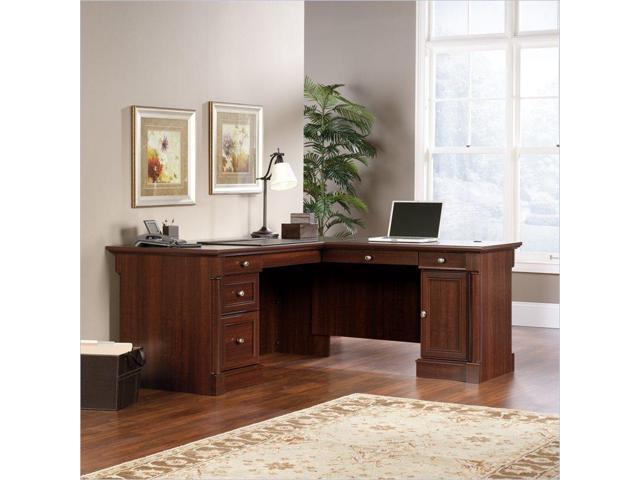 Sauder Palladia L Shaped Computer Desk In Select Cherry