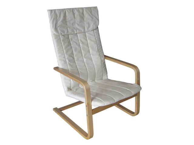 CorLiving LDQ-968-C Aquios Bentwood High Back Armchair in White