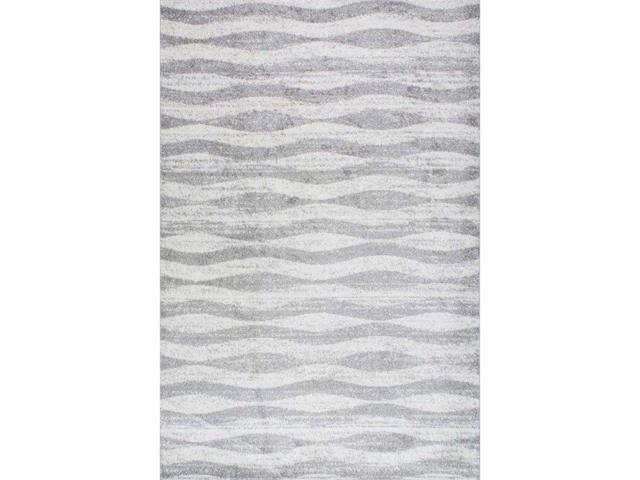 Nuloom BDSM02A-860116 TrisTan Contermporary Geometric Waves Rug, Grey - 8 ft. 6 in. x 11 ft. 6 in.