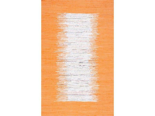 Nuloom 8' x 10' Flatweave Tasha Cotton Rug in Orange