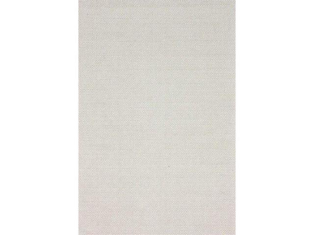 Nuloom HMCO6B-508 Hand Loomed Diamond Cotton Check Rug, Taupe - 5 ft. x 8 ft.