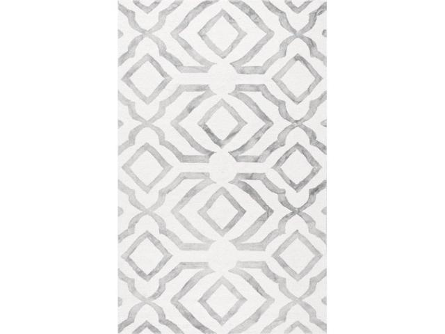 Nuloom VCDD02B-76096 Hand Looped Baggett Rug, Grey - 7 ft. 6 in. x 9 ft. 6 in.