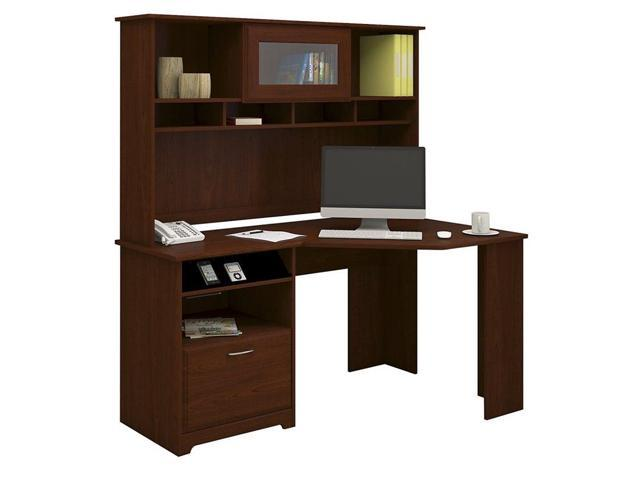 Bush Cabot 60 Quot Corner Desk With Hutch In Harvest Cherry