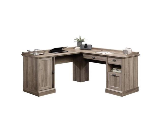 Sauder Barrister Lane L Shaped Desk In Salt Oak Newegg Com