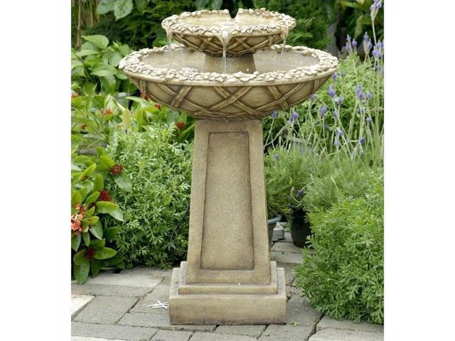 Jeco Bird Bath Outdoor Water Fountain